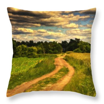 Farm Country Germany Ger3700 Throw Pillow