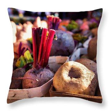 Throw Pillow featuring the photograph Farm Fresh Anyone  by John S