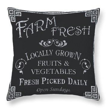 Farm Fresh Sign Throw Pillow by Debbie DeWitt
