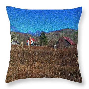 Farm House 2 Throw Pillow
