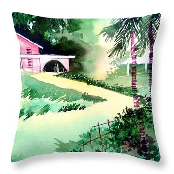Farm House New Throw Pillow by Anil Nene