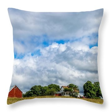 Farm In Cape Breton Throw Pillow by Ken Morris