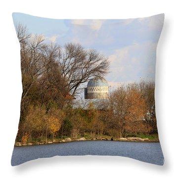 Farm Landscape Throw Pillow by Lori Tordsen