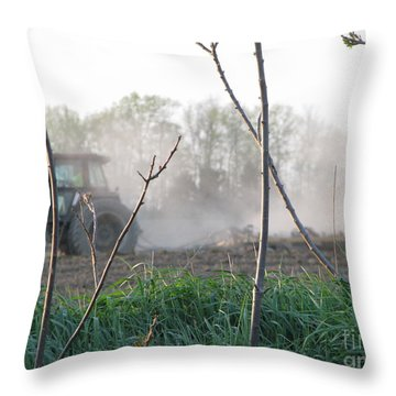 Throw Pillow featuring the photograph Farm Life  by Michael Krek