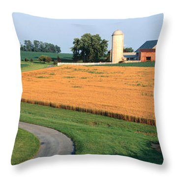 Farm Nr Mountville Lancaster Co Pa Usa Throw Pillow