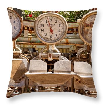 Farm Scales Throw Pillow