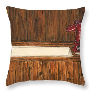 Farm Sink Throw Pillow by Regan J Smith