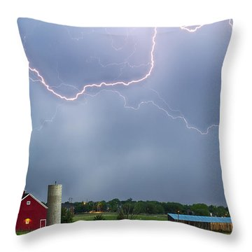 Farm Storm Hdr Throw Pillow by James BO  Insogna