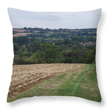 Farm Tractor 2 Throw Pillow by John Williams
