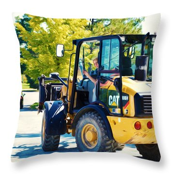 Farm Tractor 2 Throw Pillow by Lanjee Chee