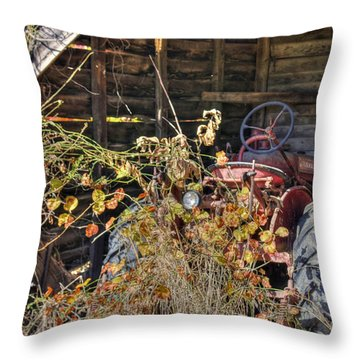 Farmall Find Throw Pillow by Benanne Stiens