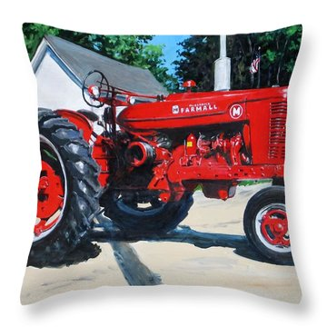 Farmall M Throw Pillow