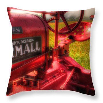 Farmall Morning Throw Pillow