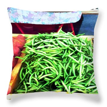 Farmer Salad Bar Throw Pillow by Elaine Plesser
