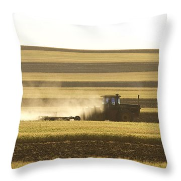 Farmer Working Throw Pillow by James BO  Insogna