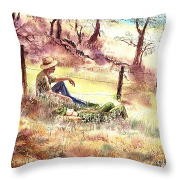 Farmers And Hunters Heaven Throw Pillow
