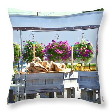 Farmers Market 3 Throw Pillow by Lanjee Chee