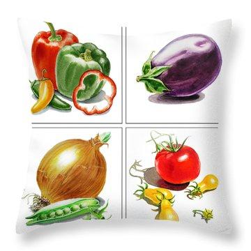 Farmers Market Delight  Throw Pillow