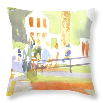Farmers Market II  Throw Pillow