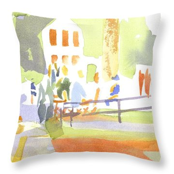 Farmers Market II  Throw Pillow