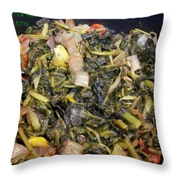 Throw Pillow featuring the photograph Market Mixed Greens by Cleaster Cotton
