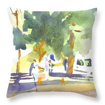 Farmers Market Vi Throw Pillow by Kip DeVore