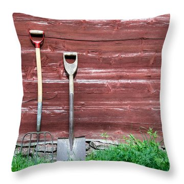 Throw Pillow featuring the photograph Farmers Old Tools by Kennerth and Birgitta Kullman