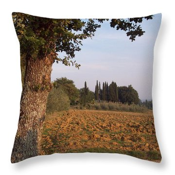 farming in Tuscany Throw Pillow
