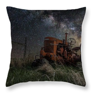 Farming The Rift Throw Pillow