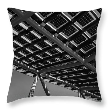 Throw Pillow featuring the photograph Farming The Sun - Architectural Abstract by Steven Milner