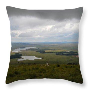 Farms - Drakensberg Range - South Africa Throw Pillow