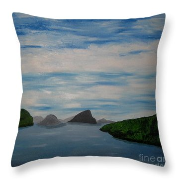 Throw Pillow featuring the painting Faroy Islands by Susanne Baumann