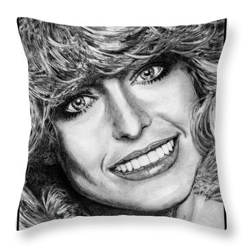 Farrah Fawcett In 1976 Throw Pillow by J McCombie