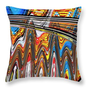 Throw Pillow featuring the digital art Highway To Nowhere Abstract by Gabriella Weninger - David