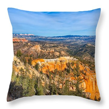 Throw Pillow featuring the photograph Farview Point Tableau by John M Bailey