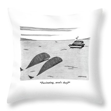 Fascinating Throw Pillow by Mick Stevens