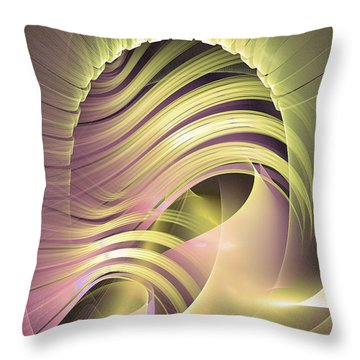 Fascinatio Lucis - Abstract Art Throw Pillow