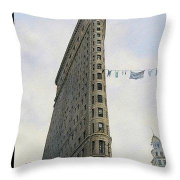 Fashion District Throw Pillow