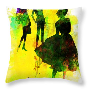 Fashion Models 2 Throw Pillow