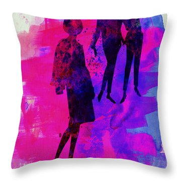 Fashion Models 4 Throw Pillow