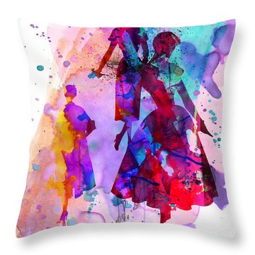 Fashion Models 6 Throw Pillow