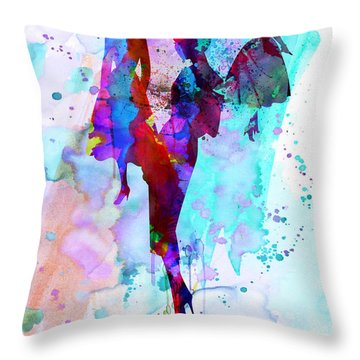 Fashion Models 7 Throw Pillow