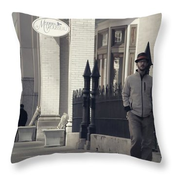 Fashion On The Street Throw Pillow by Dan Sproul
