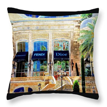 Fashion Vegas Style Throw Pillow by Barbara Chichester