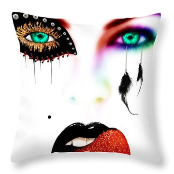 Fashionista Soft Rainbow Throw Pillow