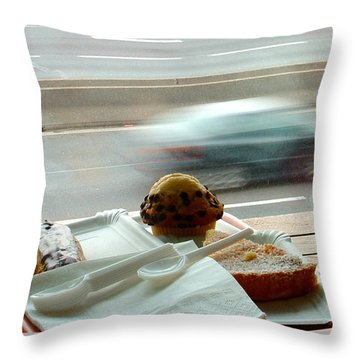 Throw Pillow featuring the photograph Fast Sugar by Marc Philippe Joly