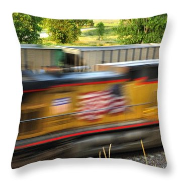 Throw Pillow featuring the photograph Fast Train by Bill Kesler
