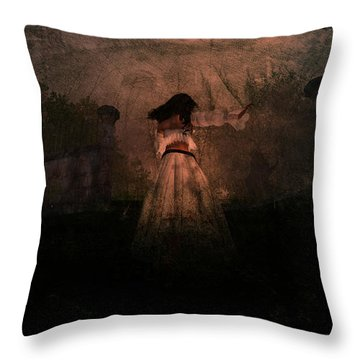 Faster Throw Pillow by Kylie Sabra