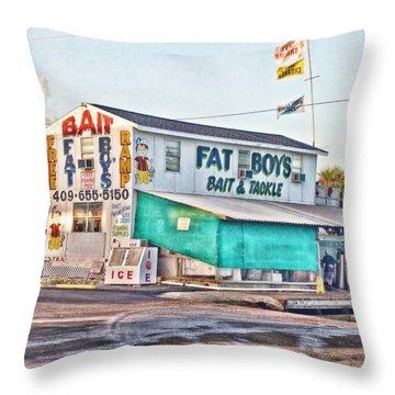 Fat Boys Throw Pillow by Scott Pellegrin