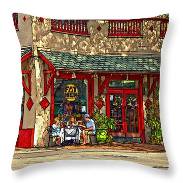 Fat Hen Grocery Painted Throw Pillow by Steve Harrington